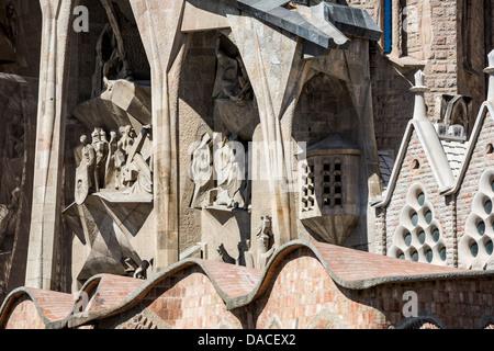 La Sagrada Familia - Passion facade - Stock Photo