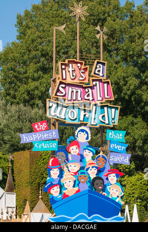 It's a Small Small World Disneyland, Anaheim, California. - Stock Photo