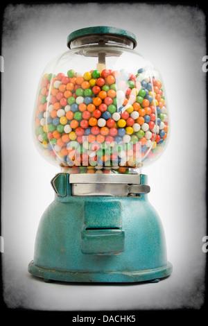 Bubble Gum Dispenser Vending Machine Colors Stock Photo