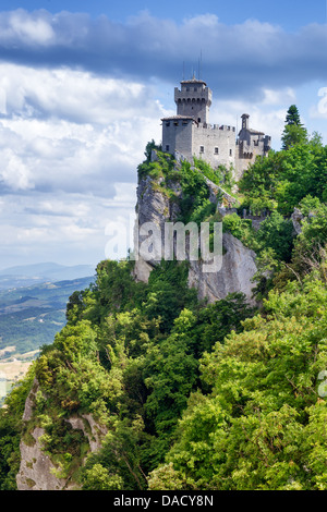 Rocca della Guaita, ancient fortress of San Marino, Italy - Stock Photo