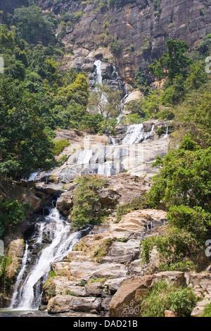 Asia,Sri Lanka,Central Province,Nuwara Eliya,waterfall - Stock Photo