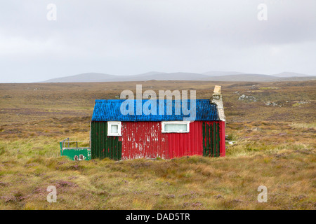 Shieling, a building once used by farmers while grazing their livestock, near Carloway, Isle of Lewis, Outer Hebrides, - Stock Photo
