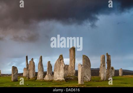 Standing Stones of Callanish, near Carloway, Isle of Lewis, Outer Hebrides, Scotland, United Kingdom, Europe - Stock Photo