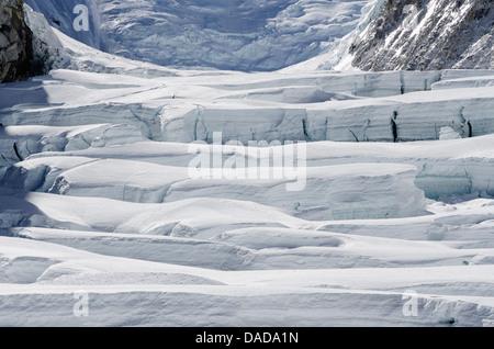 Crevasses on Mount Everest, Solu Khumbu Everest Region, Sagarmatha National Park, UNESCO World Heritage Site, Nepal, - Stock Photo
