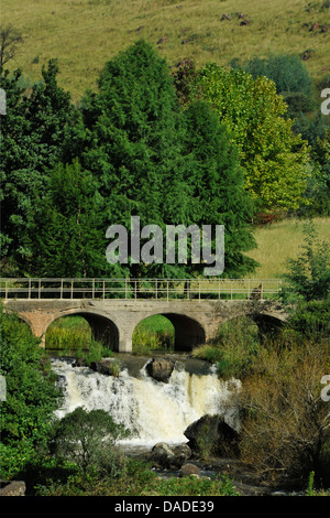 Balgowan, KwaZulu-Natal, South Africa, landscape, bridge over local stream, Midlands Meander, artists route, local - Stock Photo