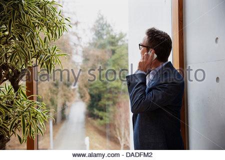 Man on mobile phone - Stock Photo