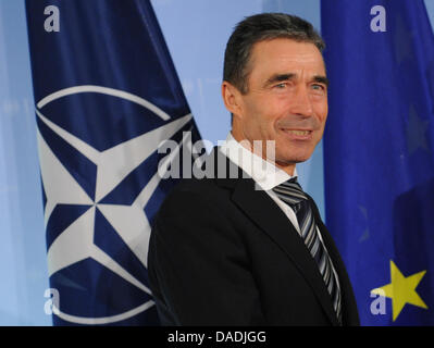 NATO General Secretary Anders Fogh Rasmussen stands in the Foreign Office in Berlin, Germany, 27 October 2011. Photo: - Stock Photo