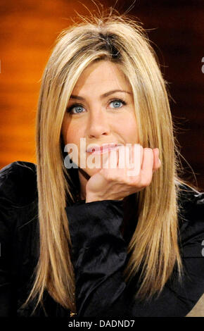 FILE - An archive picture dated 28 February 2009 shows US actress Jennifer Anistonin Duesseldorf, Germany. Aniston - Stock Photo