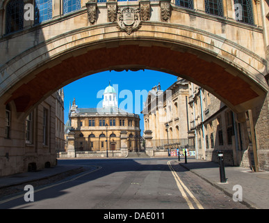 Hertford Bridge, popularly known as the Bridge of Sighs, Oxford, UK - Stock Photo