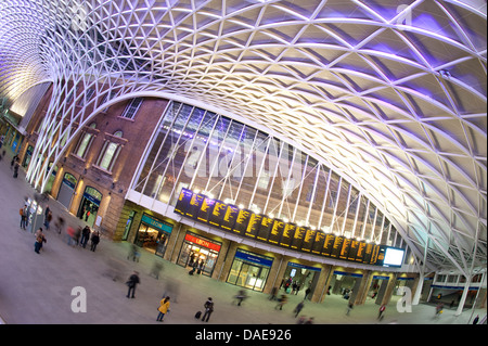 Western concourse area of Kings Cross Railway Station, terminus station for the East Coast Main Line, London, England. - Stock Photo