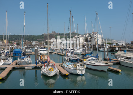 The Marina, Dover, Kent, UK - Stock Photo