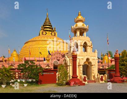 Thidagu World Buddhist University on Sagaing hill, Burma, Sagaing, Mandalay - Stock Photo