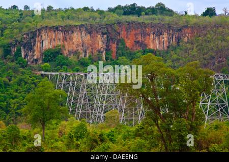Goteik Viaduct, Burma, Pyin U Lwin - Stock Photo