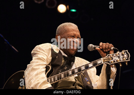 BB King, King of the Blues, performing at the House of Blues in Anaheim, California, USA on 23 February, 2013 - Stock Photo
