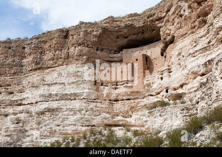 Montezuma Castle National Monument in Arizona, USA - Stock Photo