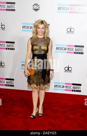 Singer Kimberly Perry of 'The Band Perry' arrives at the 2011 American Music Awards at Nokia Theatre L.A. Live in - Stock Photo