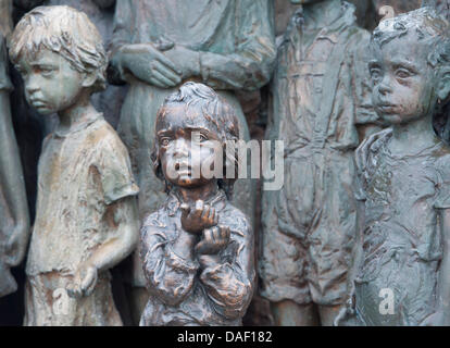 The monument for the murdered children in Lidice Memorial is seen in Lidice, Czech Republic, 24 November 2011. On - Stock Photo