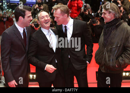 British actor Paul Bettany (L-R), US actor Kevin Spacey, US director J.C. Chandor and US actor Jeremy Irons arrive - Stock Photo