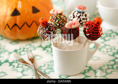 Halloween cake pops. Recipe available. - Stock Photo