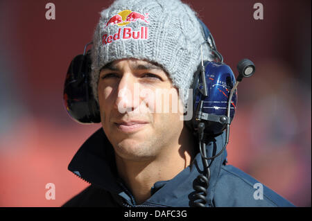 Australian Formula One race driver Daniel Ricciardo from Red Bull Racing and Scuderia Toro Rosso is seen at an official - Stock Photo