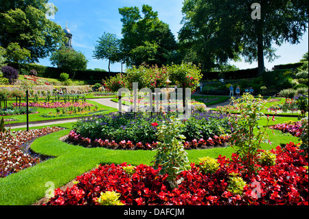 The Dingle, a garden within The Quarry, Shrewsbury, Shropshire. - Stock Photo