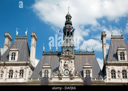 The Hotel de Ville, Paris, France. Houses City of Paris's administration - Stock Photo
