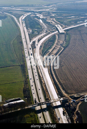 FILE - An archive picture dated 25 November 2011 shows the construction site of the motorway junction Schwanebeck - Stock Photo
