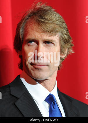 (dpa FILE) - An archive picture, dated, 25 June 2011, shows US film director Michael Bay attending the European - Stock Photo