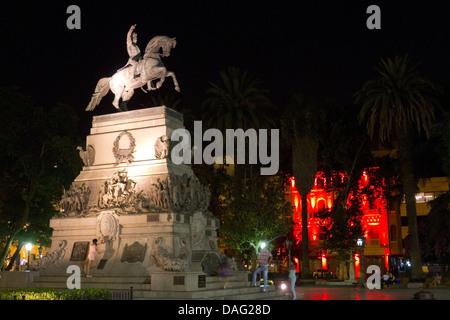 Plaza San Martin in the centre of Cordoba, Argentina - Stock Photo