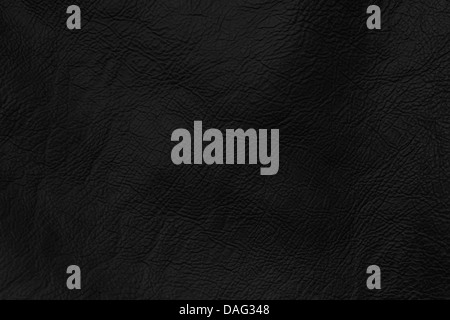 black wrinkled leather texture - Stock Photo