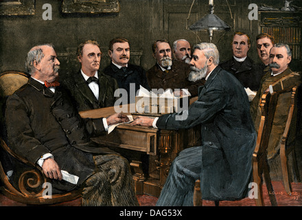 President Cleveland and his cabinet Stock Photo, Royalty Free ...