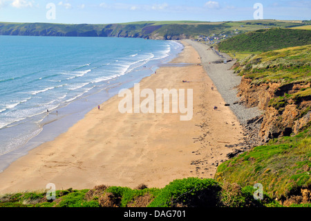 Newgale beach, United Kingdom, Wales, Pembrokeshire - Stock Photo