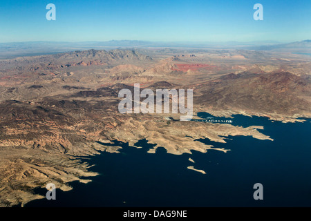 Callville Bay marina at Lake Mead, USA, Nevada, Las Vegas - Stock Photo