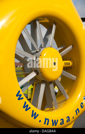 North West Air Ambulance Helicopter tail Rotor - Stock Photo