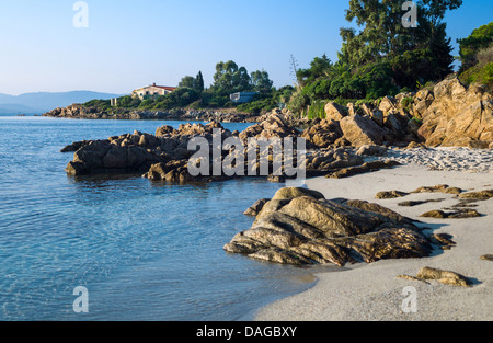 Italy, Sardinia, Olbia Tempio, the Lido of Pittolongu - Stock Photo