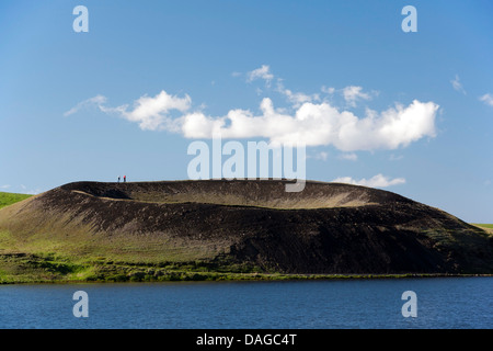 Pseudocrater in Myvatn Region, North-Central Iceland - Stock Photo