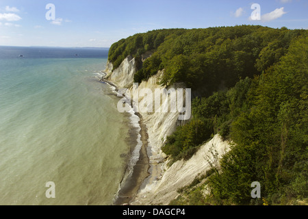 Jasmund National Park chalk cliffs, Germany, Mecklenburg-Western Pomerania, Ruegen, Jasmund National Park - Stock Photo