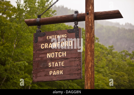 The Crawford Notch State Park is seen in New Hampshire - Stock Photo