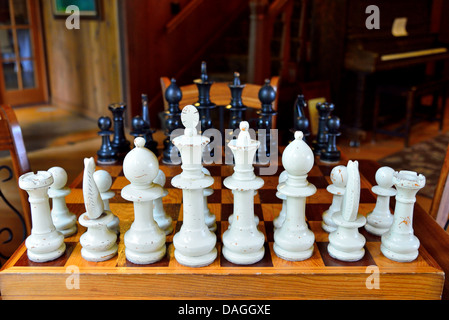 Wooden chess set. - Stock Photo