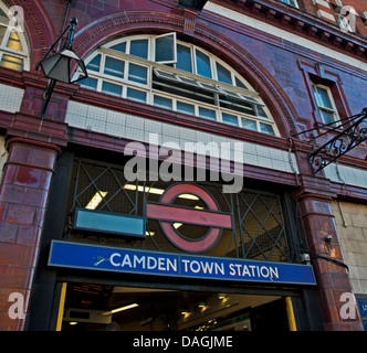 Camden Town Underground Station, London, England, United Kingdom - Stock Photo