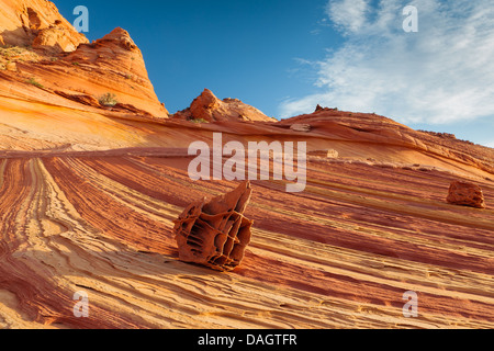 Rock formations in the North Coyote Buttes, part of the Vermilion Cliffs National Monument. Also known as The Boneyard - Stock Photo
