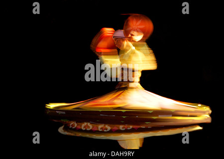 Whirling Egyptian dancer. Red Sea Coast Sinai Egypt - Stock Photo