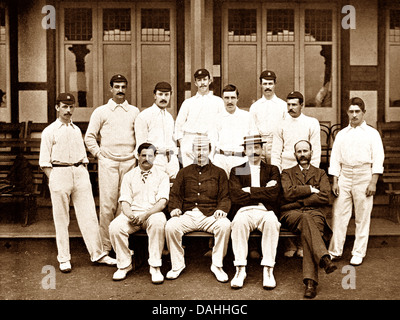 Warwickshire CC Cricket Team in 1895 - Stock Photo