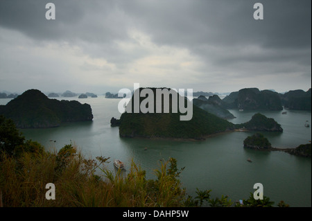 View from Dao Titop Island, Halong Bay, Vietnam - Stock Photo