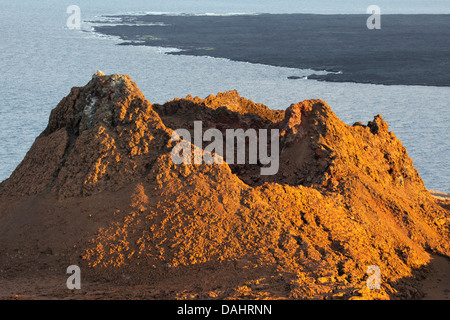 Eroded volcanic spatter cone (parasitic cone) - Stock Photo