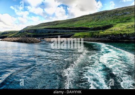 Marina and ferry harbor - Stock Photo