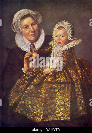 Franz Hals (c. 1582–1666), born in southern Netherlands—what is today Belgium—painted this Nurse and Child. - Stock Photo