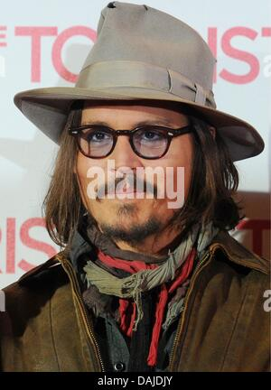 (dpa File) - An archive picture, dated 14 December 2010, shows US actor Johnny Depp at a screening of his new film - Stock Photo