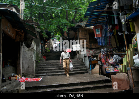 Old Shibati (The eighteen ladder) in central Chongqing, China. 09-May-2013 - Stock Photo