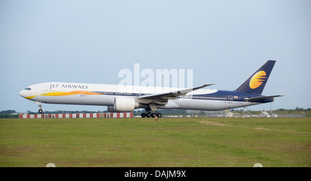 Jet Airways Boeing 777-300 taking off - Stock Photo